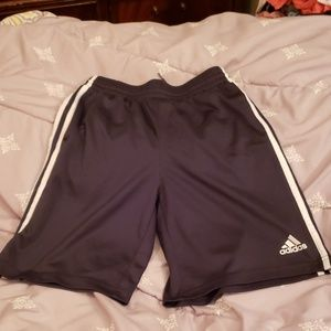 Boys gray and white striped Adidas shorts  M-10/12